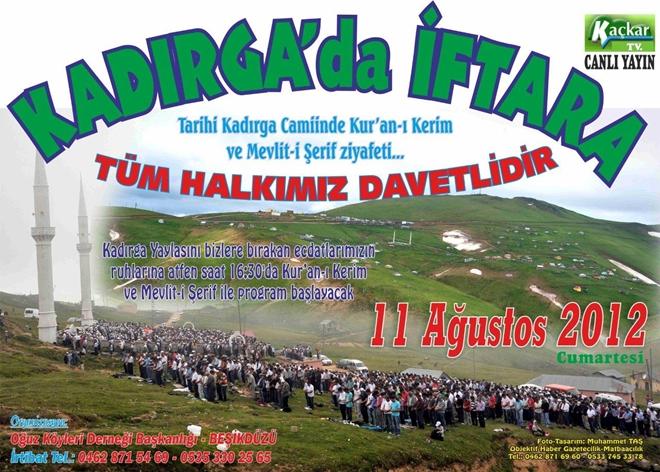 Kadırga'da İftar Proğramına Davet