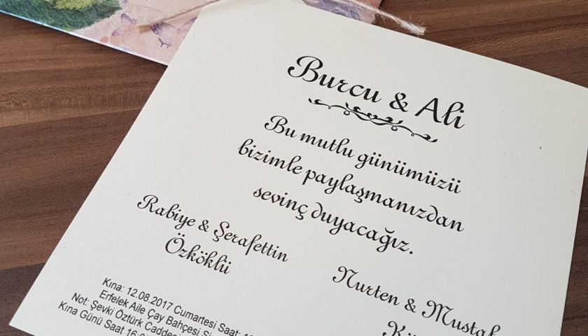 Burcu ve Ali Evleniyorlar