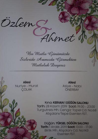 Özlem &Ahmet Evleniyor
