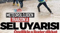 Meteoroloji'den Trabzon'a Son Dakika Uyarısı!