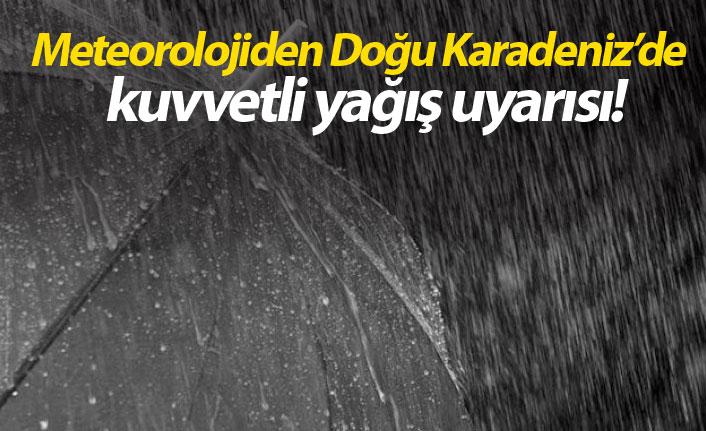 Meteorolojiden Karadeniz yağış uyarısı