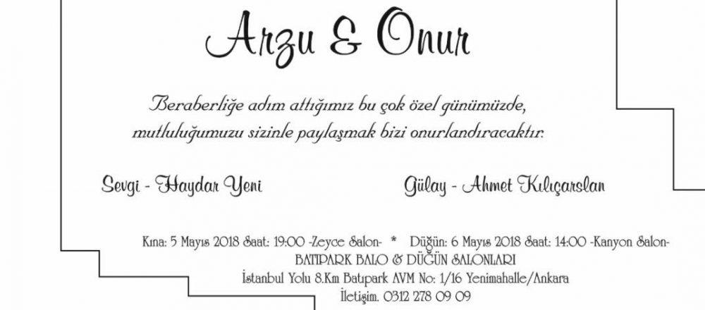Arzu & Onur Evleniyor